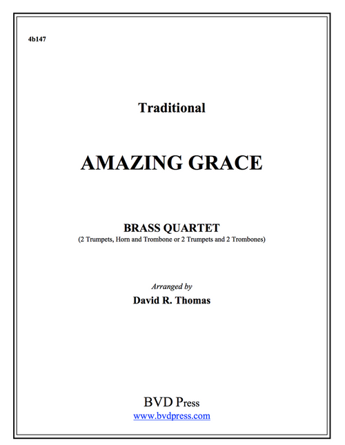 Amazing Grace Brass Quartet (Trad./Thomas)