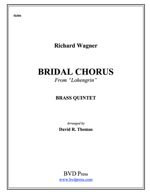 Bridal Chorus Brass Quintet (Wagner/Thomas)