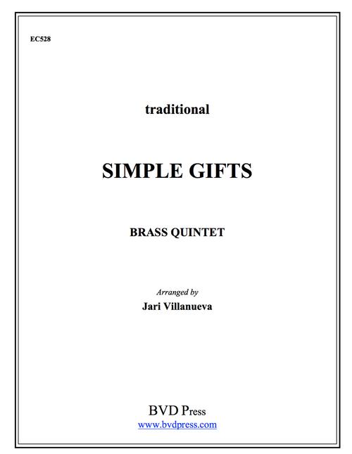 Simple Gifts Brass Quintet (Trad./Villanueva)