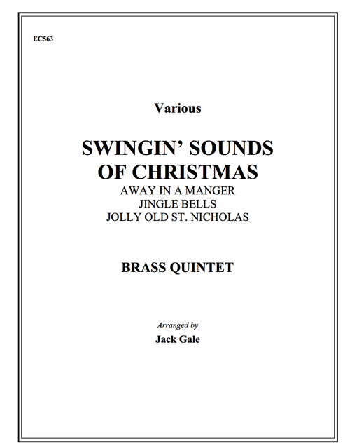 Swingin' Sounds of Christmas for Brass Quintet (Various/Gale)