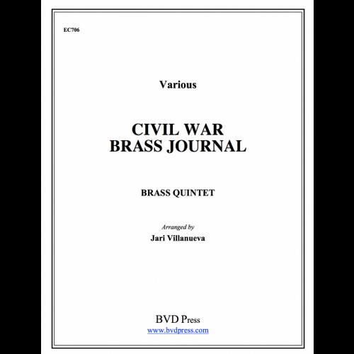 Civil War Brass Journal for Brass Quintet (Various/Villanueva)