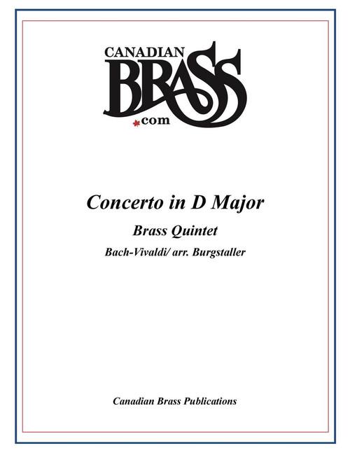 Concerto in D Major (BWV972) for Brass Quintet (Bach-Vivaldi arr. Burgstaller) PDF Download