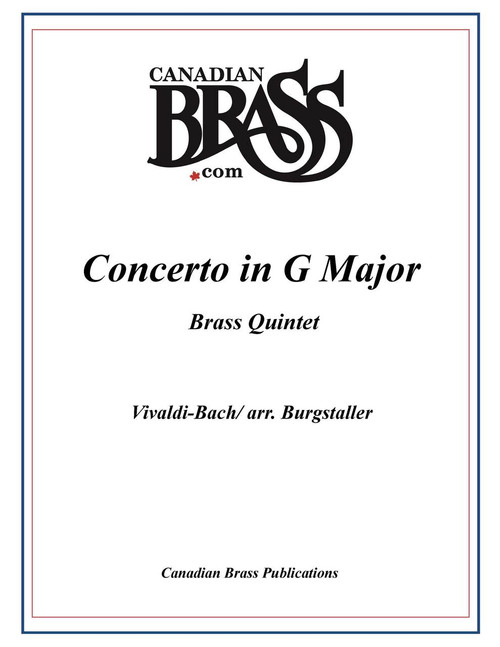 CONCERTO IN G MAJOR FOR BRASS QUINTET (VIVALDI-BACH/ arr. Burgstaller) PDF Download