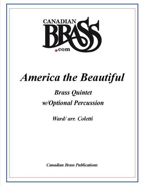 America The Beautiful Brass Quintet w/Optional Percussion PDF