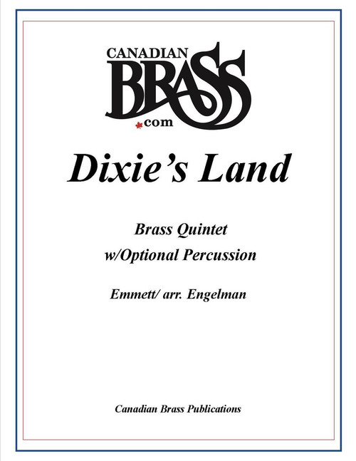 Dixie's Land Brass Quintet w/Optional Percussion PDF
