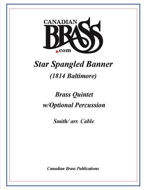 The Star Spangled Banner 1814 Baltimore Version for 2 Piccolo Trumpets, Snare, Bass drum (arr. Cable) PDF