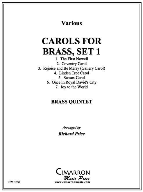 Carols for Brass, Set 1 for Brass Quintet (Trad./Richard Price)