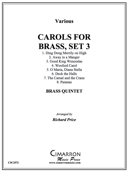 Carols for Brass, Set 3 for Brass Quintet (Various/ arr. Price)
