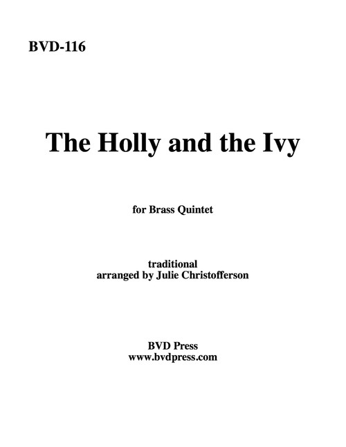 THE HOLLY AND THE IVY BRASS QUINTET (TRAD./CHRISTOFFERSON) PDF Download