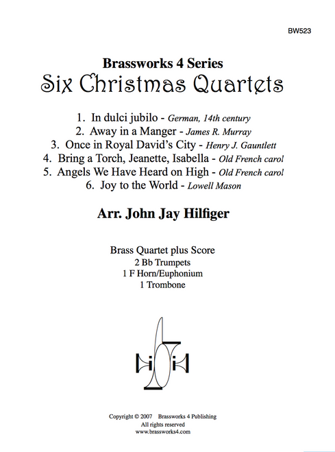 6 CHRISTMAS QUARTETS (TRAD. / ARR. HILFIGER) PDF Download