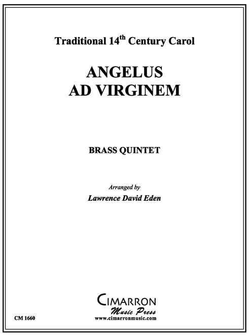 ANGELUS AD VIRGINEM BRASS QUINTET (TRAD./LAWRENCE DAVID EDEN) PDF Download