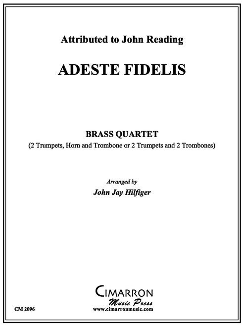 ADESTE FIDELIS BRASS QUARTET (READING/ ARR. HILFIGER) PDF Download