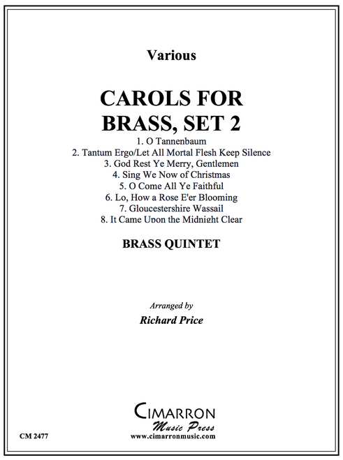 CAROLS FOR BRASS, SET 2 FOR BRASS QUINTET (VARIOUS/ARR. PRICE) PDF Download