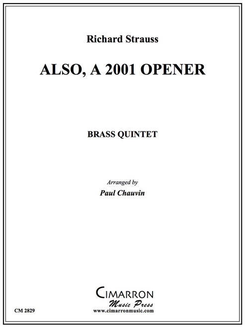 ALSO, A 2001 OPENER BRASS QUINTET (HOLST & STRAUSS/ ARR. PAUL CHAUVIN) PDF Download