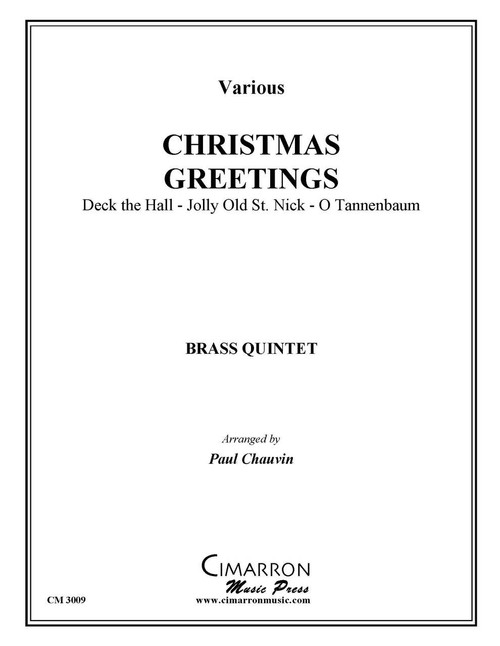 CHRISTMAS GREETINGS FOR BRASS QUINTET (VARIOUS/ ARR. PAUL CHAUVIN) PDF DOWNLOAD