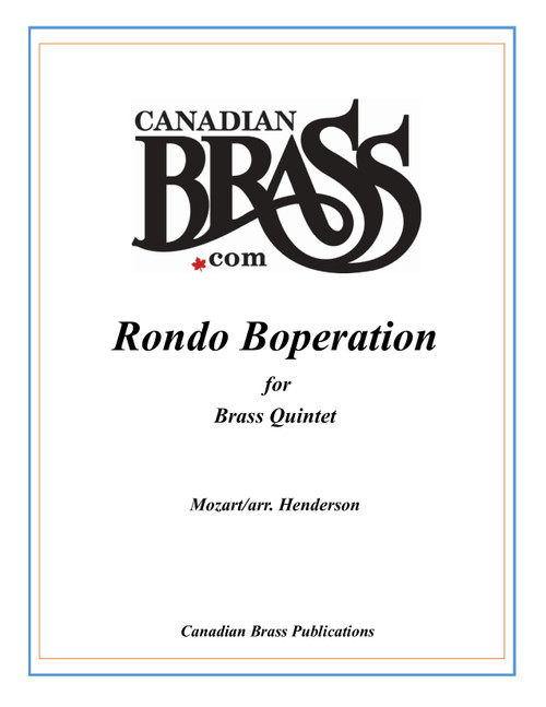 Rondo Boperation Brass Quintet (Mozart/arr. Henderson) archive copy