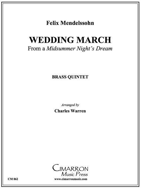 Wedding March Brass Quintet (Mendelssohn/arr. Warren)
