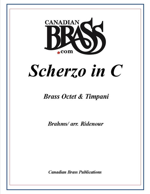 Brahms Scherzo in C for Brass Octet and Percussion (Brahms/arr. Ridenour) PDF Download
