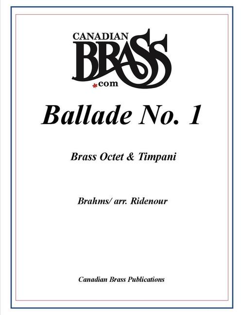 Brahms Ballade No 1 for Brass Octet and Timpani (Brahms/arr. Ridenour) PDF Download