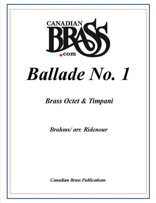 Brahms Ballade No 1 for Brass Octet and Timpani (Brahms/arr. Ridenour) PDF Download