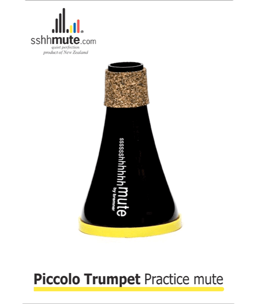 Sshhmute for Piccolo Trumpet Practice Mute