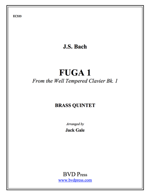 Fuga No. 1 from Well Tempered Clavier, Vol. 1, Brass Quintet (JS Bach/Gale) PDF Download