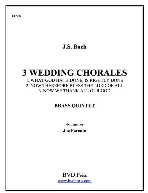Three Bach Wedding Chorales Brass Quintet (Bach/arr. Parente) PDF Download