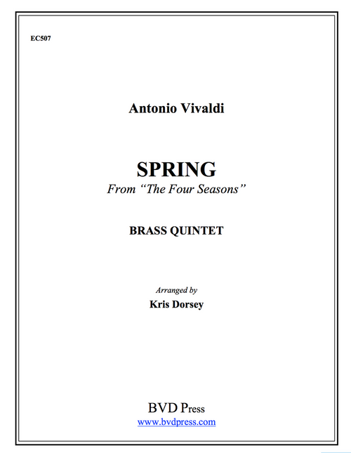 "Spring from the ""Four Seasons"" Brass Quintet (Vivaldi/arr. Dorsey) PDF Download"