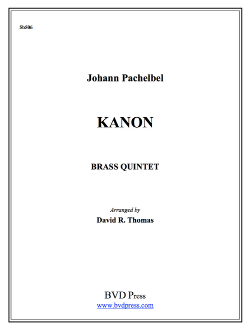 Kanon Brass Quintet (Pachelbel/Thomas) PDF Download