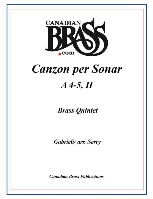 Canzon per Sonar A 4-5, II Brass Quintet (Gabrieli/ arr. Serry) PDF Download