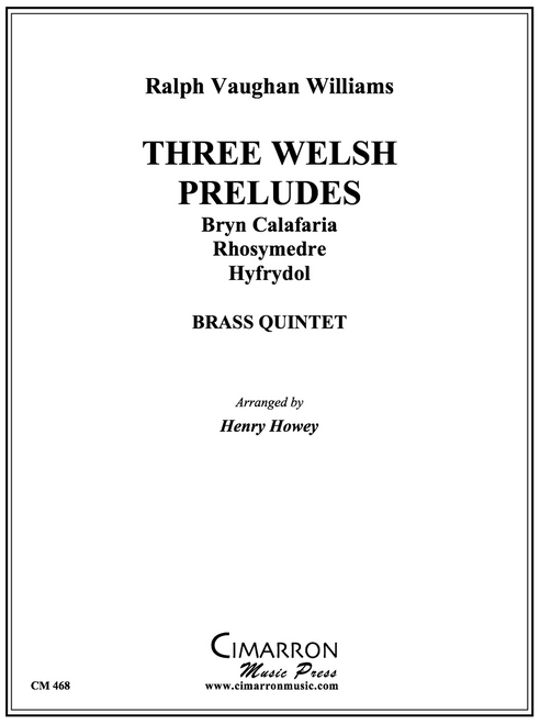Three Welsh Preludes for Brass Quintet (Vaughan Williams/Howey)