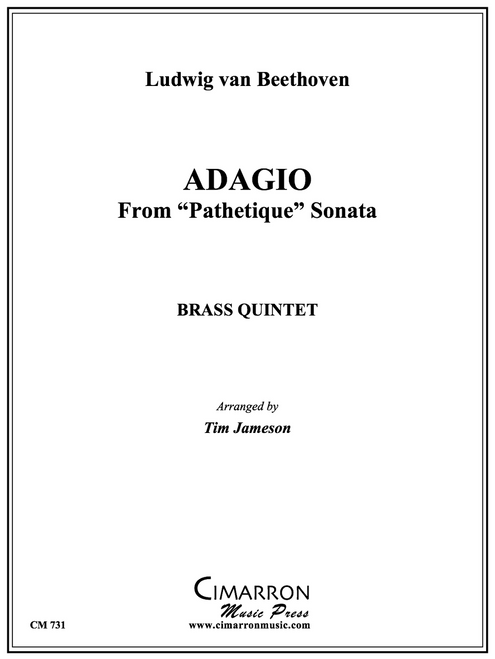 "Adagio from ""Pathetique Sonata"" Brass Quintet (Beethoven/arr. Jameson)"