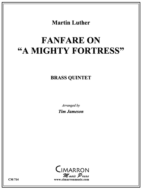 """Fanfare On """"A Mighty Fortress"""" Brass Quintet (Luther/arr. Jameson) PDF Download"""