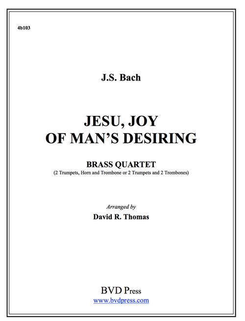 Jesu, Joy of Man's Desiring Brass Quartet (Bach/Thomas) PDF Download