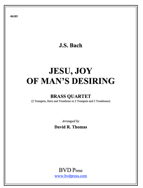 Jesu, Joy of Man's Desiring Brass Quartet (Bach/Thomas) PDF Download