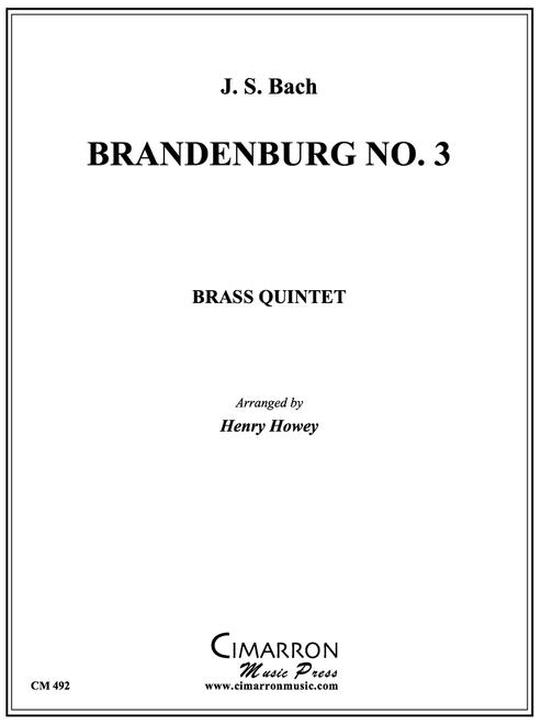 Brandenburg No. 3 Brass Quintet (Bach/arr. Howey) PDF Download