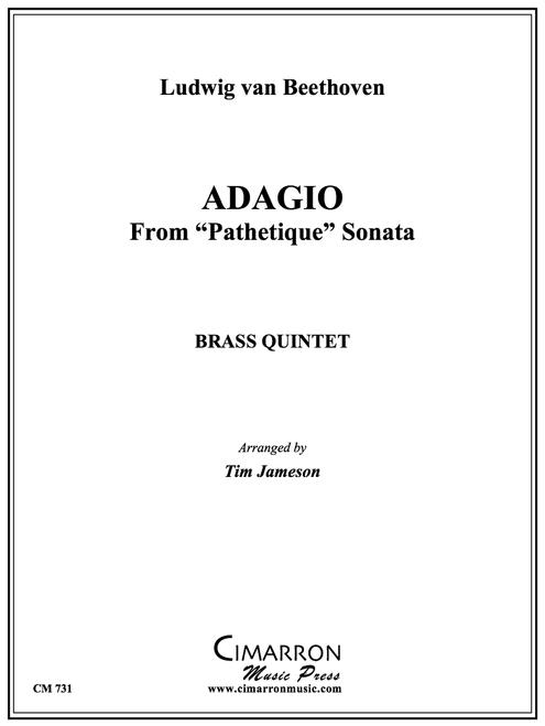 "Adagio from ""Pathetique Sonata"" Brass Quintet (Beethoven/Jameson) PDF Download"
