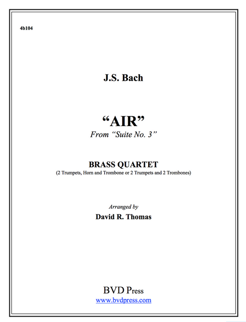Air on the G String Brass Quartet (J.S. Bach/Thomas) PDF Download