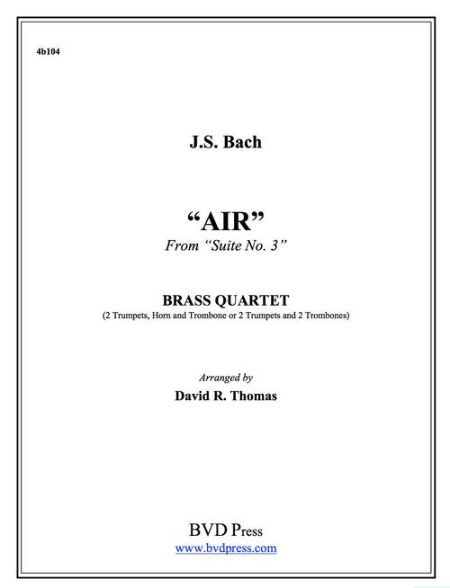 Air on the G String Brass Quartet (J.S. Bach/Thomas) PDF Download