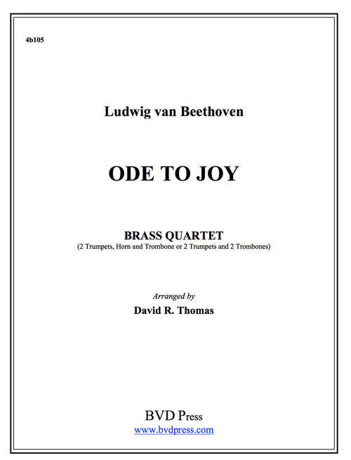 Ode to Joy Brass Quartet (Beethoven/Thomas) PDF Download