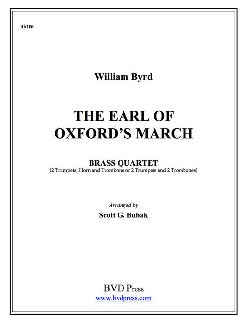 Earl of Oxford's March Brass Quartet (Byrd/Bubak) PDF Download