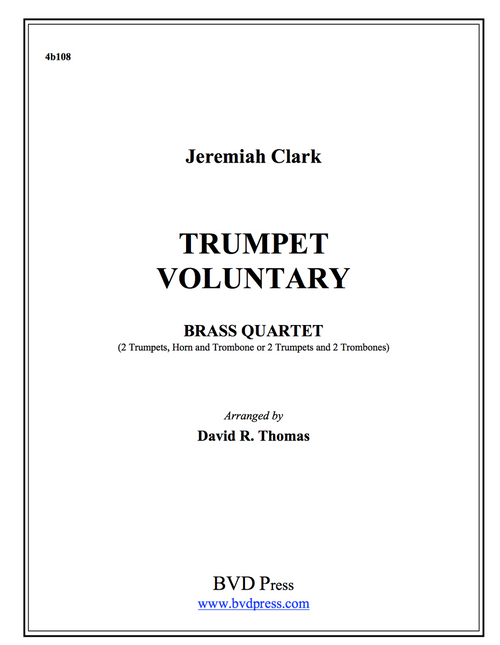 Trumpet Voluntary Brass Quartet (Clarke/Green) PDF Download