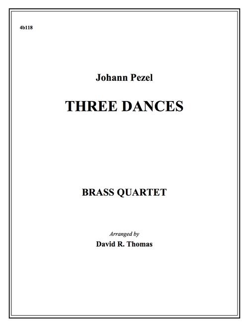 Three Dances Brass Quartet (Pezel/Thomas) PDF Download