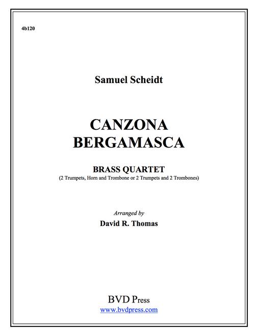 Canzona Bergamasca Brass Quartet (Scheidt/Thomas) PDF Download
