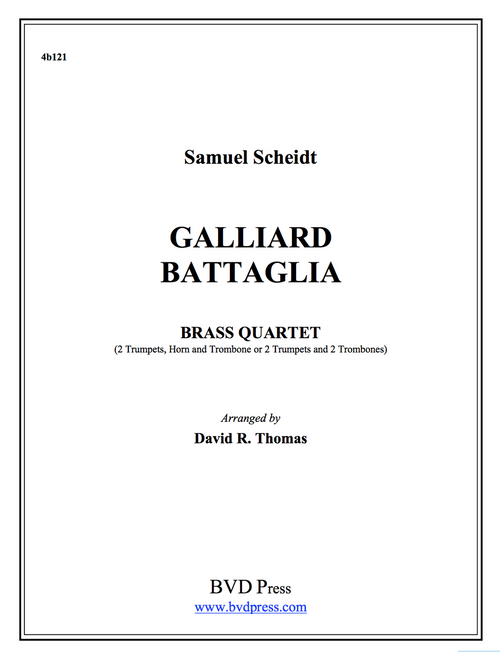 Galliard Battaglia Brass Quartet (Scheidt/Thomas) PDF Download