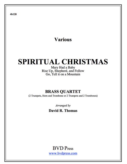 A Spiritual Christmas Brass Quartet (Various/Thomas) PDF Download