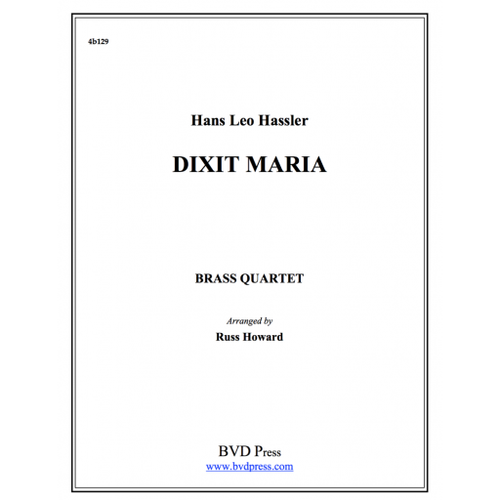 Dixit Maria Brass Quartet (Hassler/Howard) PDF Download