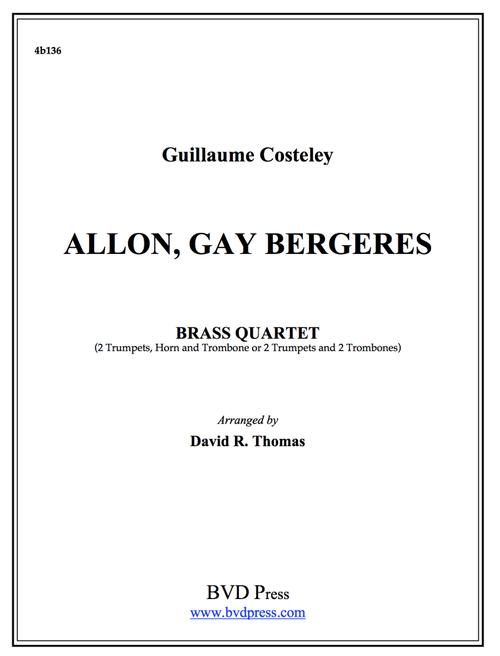 Allon, Gay Bergeres Brass Quartet (Costeley/Thomas) PDF Download