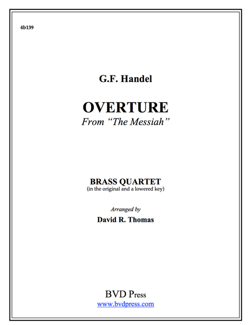 "Overture from ""The Messiah"" Brass Quartet (Handel/Thomas) PDF Download"