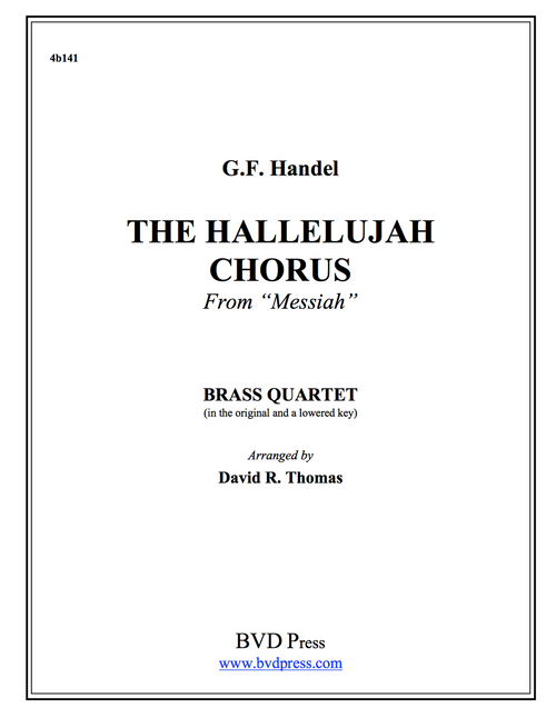 Hallelujah Chorus Brass Quartet (Handel/Thomas) PDF Download
